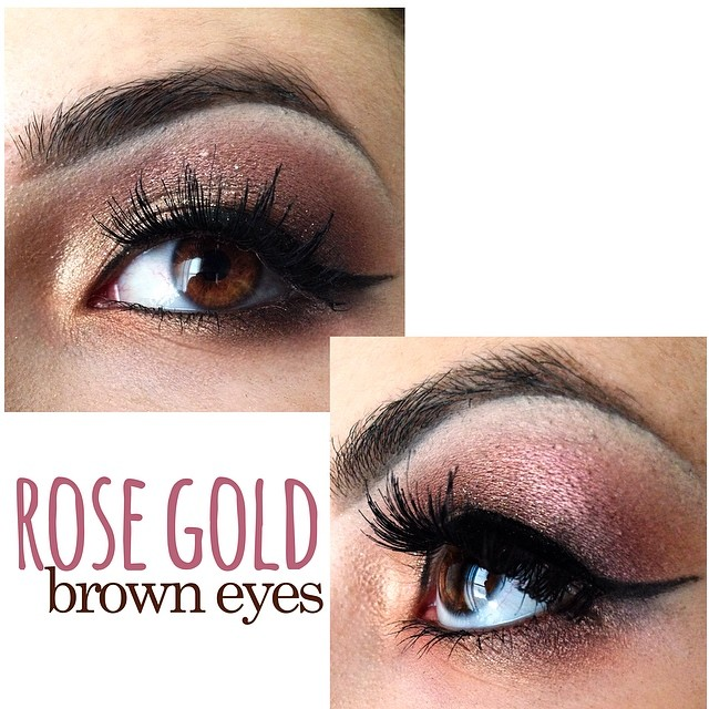 Rose Gold Makeup For Brown Eyes Tease And Makeup