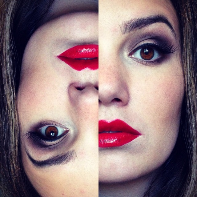 Smokey Eyes With Red Lips Tease And Makeup