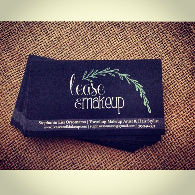 Finally ordered some business cards with my married name sorry it took so long for those who asked!  #teaseandmakeup