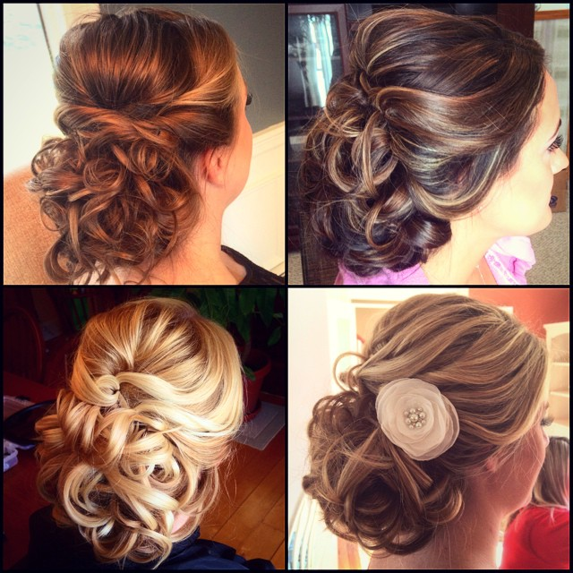 A few of my favorite Bridal Styles that I didn't get a chance to post until now  #teaseandmakeup #hairstyle #hairstylist #bridalhair #bride #wedding #updo #style #lowbun #curls