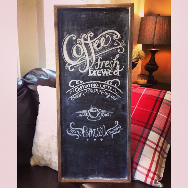 My new café wall art ️ #chalkboard