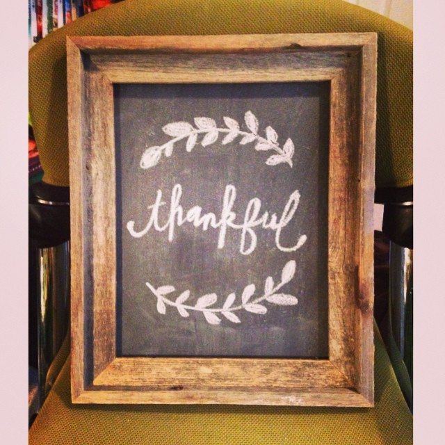 Working on some new wall art #thankful