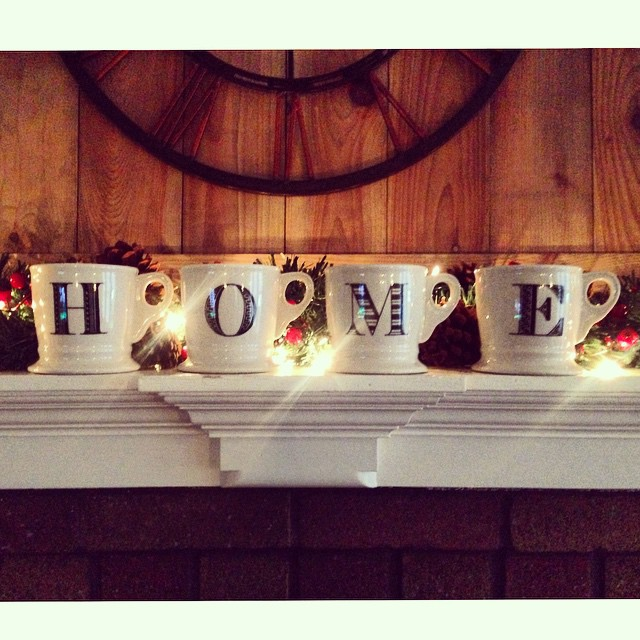 Merry Christmas from our home to yours ..my favorite Christmas gift this year was these mugs from @anthropologie !