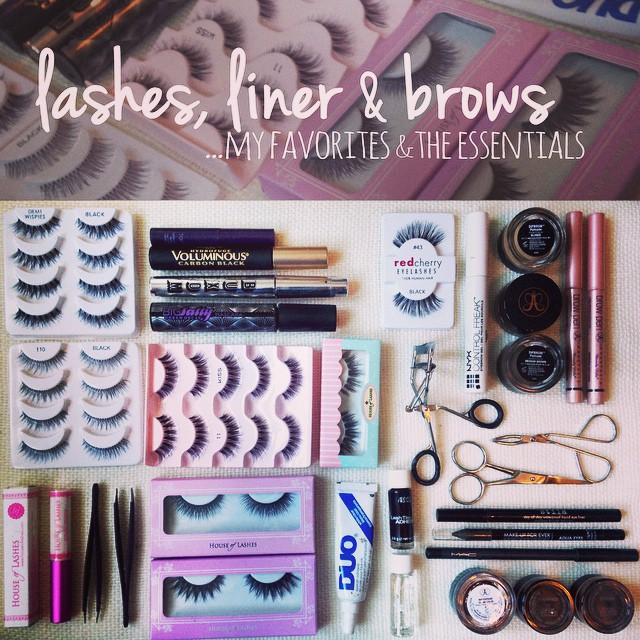 Sharing some of my favorites and essentials in my kit when it comes to lashes, liner and brows!  #teaseandmakeup #mua #mac #houseoflashes #anastasia #redcherry #duo #nyx #urbandecay