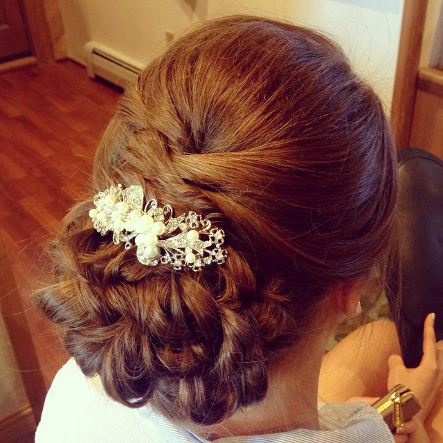 Bridal Hair from today's wedding #teaseandmakeup #bride #bridal #bridalstyle