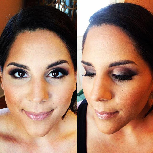 Bridal Dark Matte Smokey Eye#teaseandmakeup #mua #utica #mac #maccosmetics #urbandecay #anastasiabeverlyhills #buxom #makeupforever