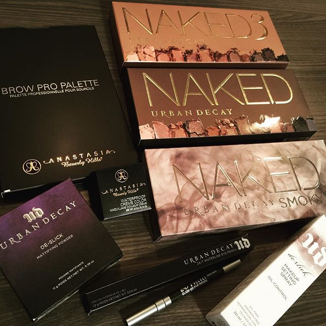 Round 2 of restocking just arrived!! #teaseandmakeup #mua #makeupartist #urbandecay #anastasiabeverlyhills
