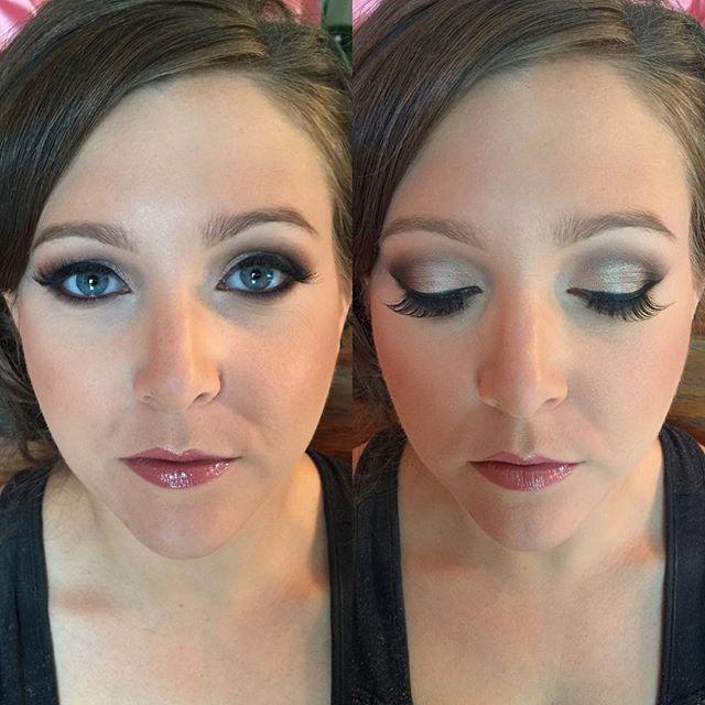 satin + cool toned smokey eye#teaseandmakeup #smokeyeye #mua #makeupartist #urbandecay #anastasiabeverlyhills #mac #bridesmaid #weddingmakeup #blueeyes #bridesmaid