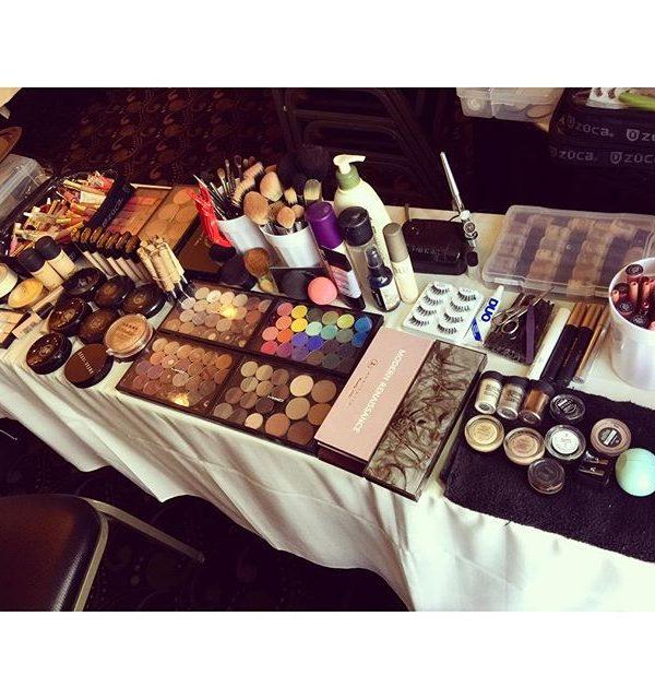 Vernon Downs, NY Wedding – Makeup Set-up