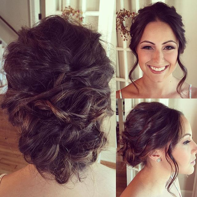 Bridal Updo Brunette Wedding Hairstyle Fave4 Joico