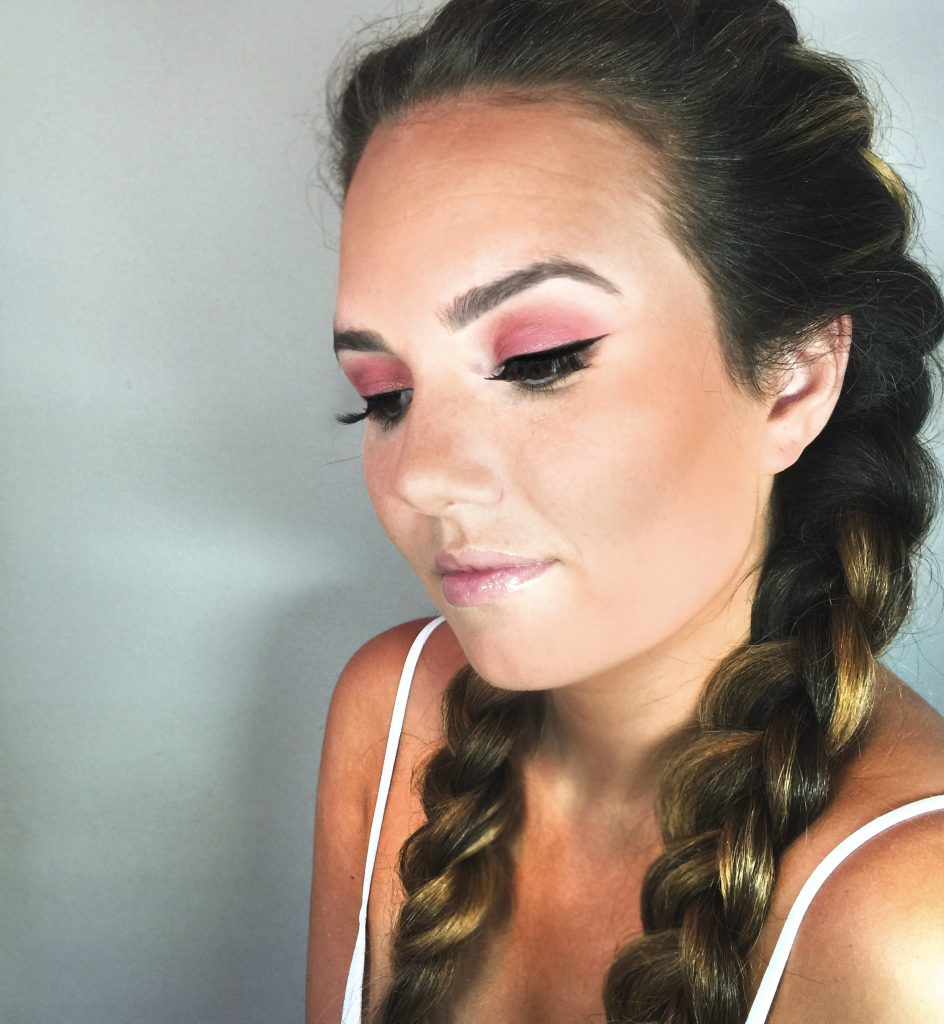 French Braided Tease and Makeup