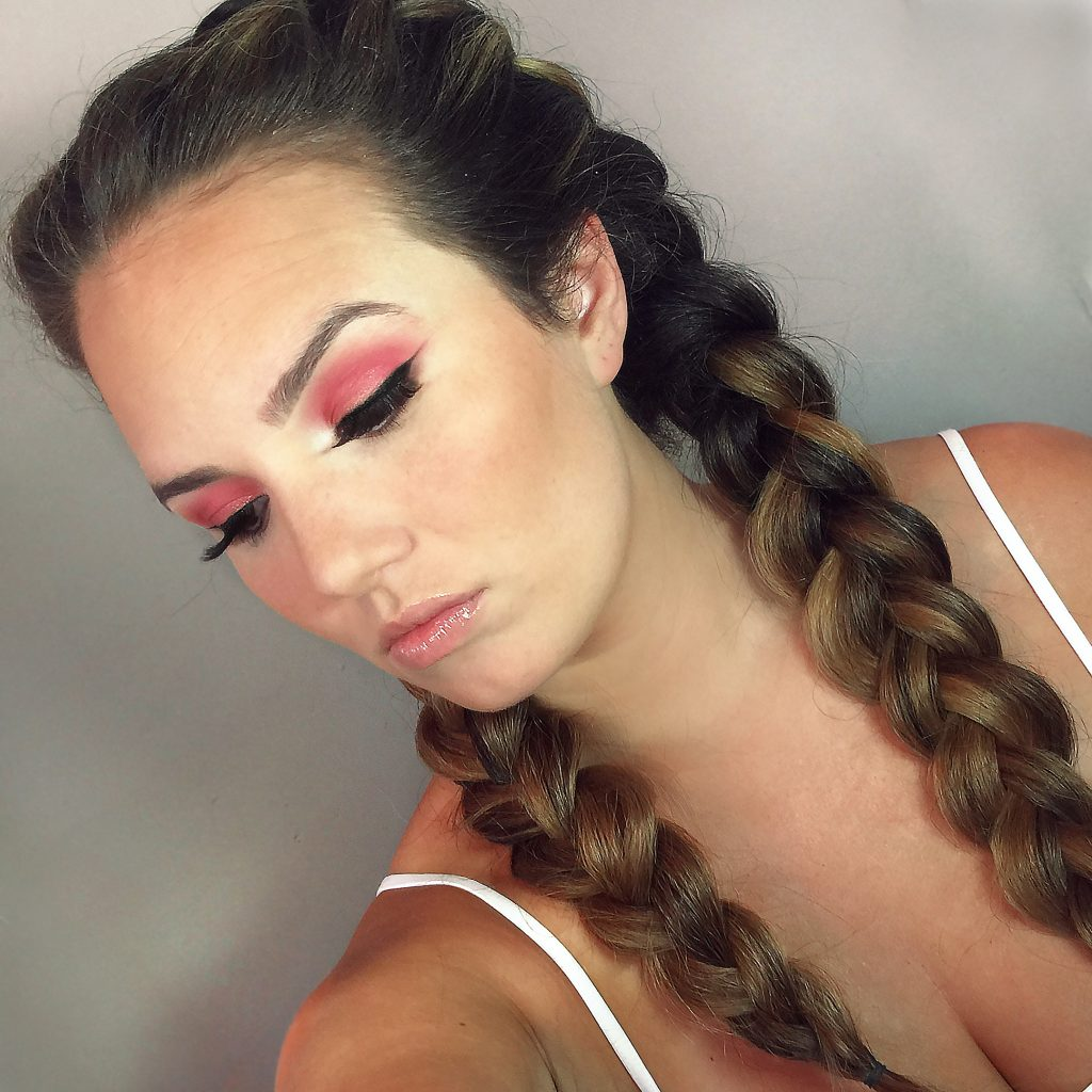 French Braids - Tease and Makeup