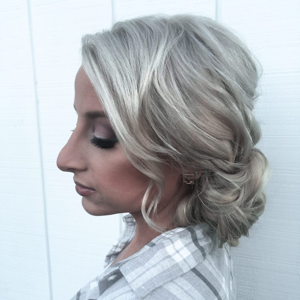 Loose Curled Low Bun - Tease and Makeup