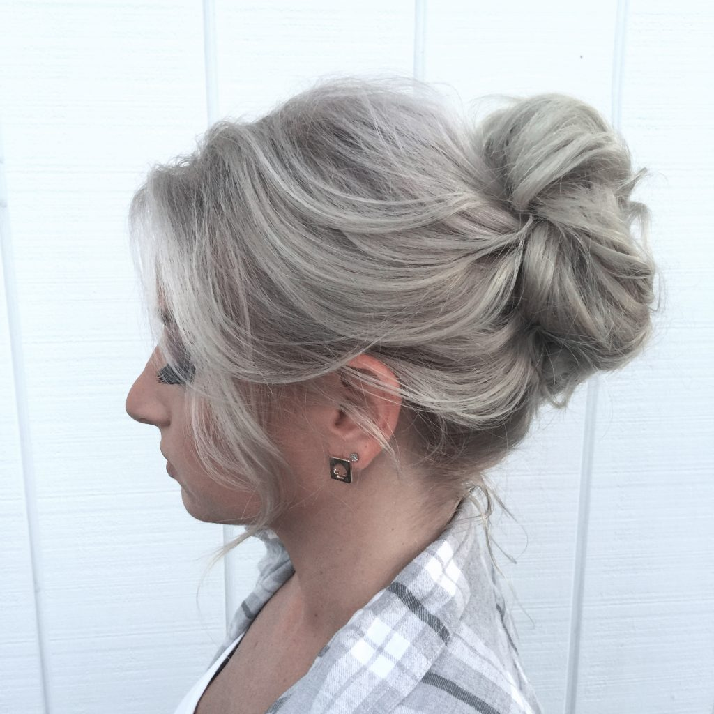 Romantic Updo Loose Waves - Tease and Makeup